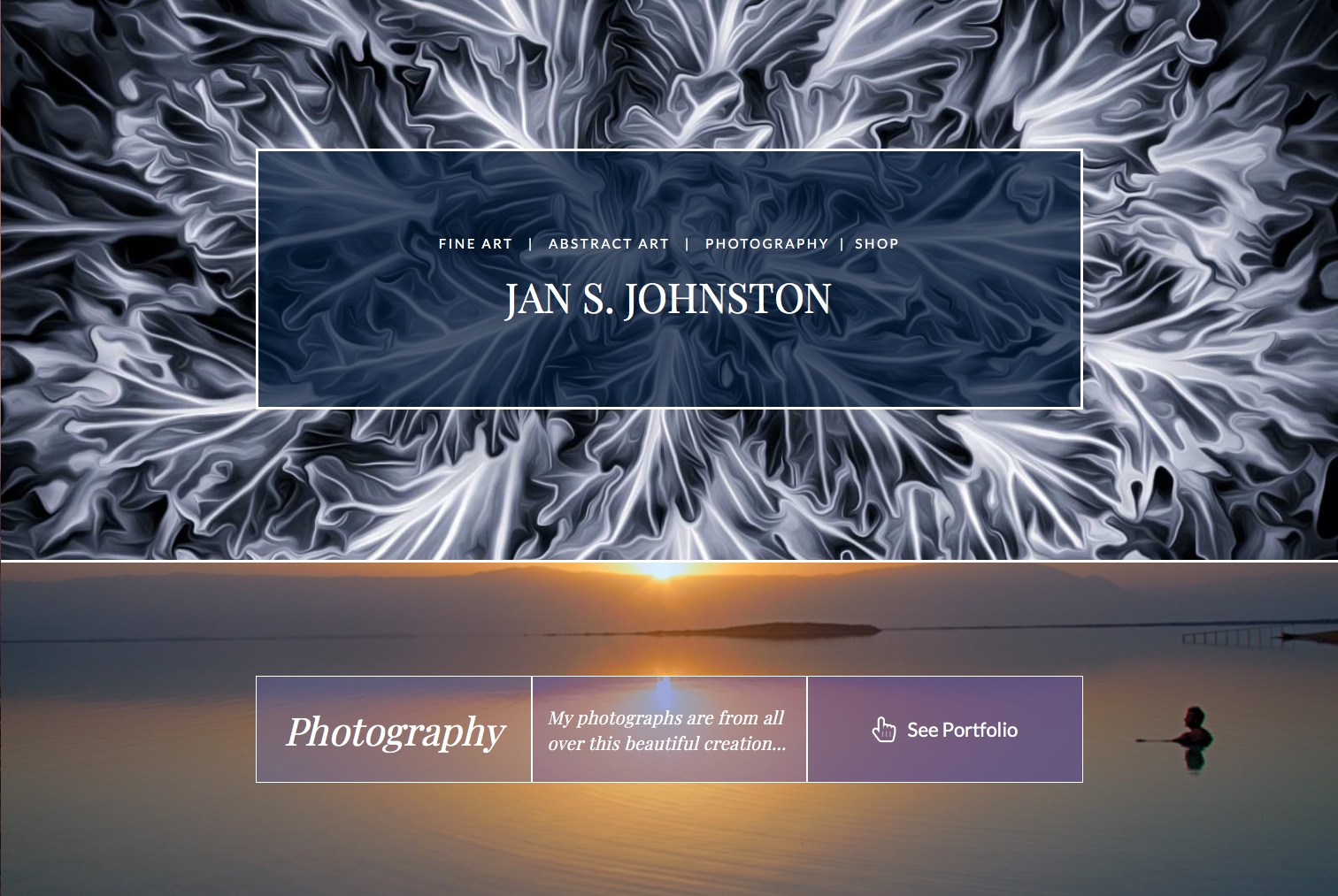 Jan Johnston Artworks website