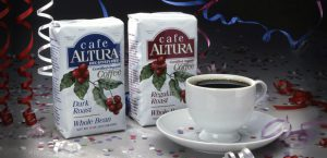 Package design for Altura Organic Coffee