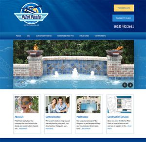 Website design for Pilot Pools